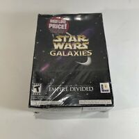 Sealed Star Wars Galaxies: An Empire Divided (2003) PC Game Desktop Big Box Set