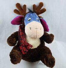 """Disney Store Winnie the Pooh Eeyore 17"""" Plush Moose Antlers Costume Red Scarf"""