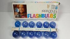 12 Sylvania Flash Bulbs Blue Dot Press 25B Rare Vintage