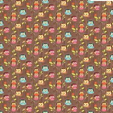 Happy Flappers Hideout Brown by Kelly Panacci  for Riley Blake, 1/2 yard fabric