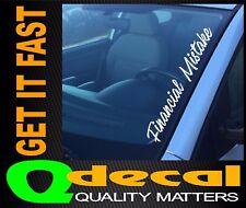 FINANCIAL MISTAKE Car Windscreen Sticker Decal 4x4 4WD Car Ute JDM