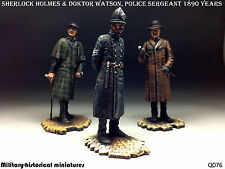 Sherlock Holmes & doktor Watson, police sergeant 1890 (3 figures) HAND PAINTED