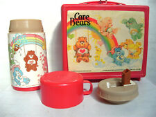 1983 Care Bears Red Aladdin Plastic Lunchbox with Thermos
