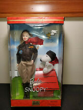 Collector Edition Aviator BARBIE Doll With Faux Leather Jacket & Snoopy # 55558