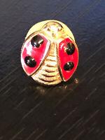 Vintage Collectible Ladybug Red Black Colorful Metal Pinback Lapel Pin Hat Pin