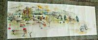 Debbi Chan saccomanno Hand Painted Watercolor Scroll Angelo