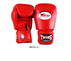 Twins  Boxing Gloves BGVL-3 Red 8,10,12,14,16 oz Sparring  Muay Thai  MMA K1