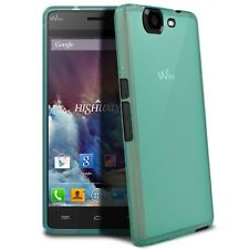 Funda Para Wiko Highway Semi Rígido Gel Extra Fina mate/brillante Azul