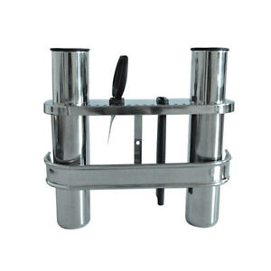 Fishing Outrigger Rod Holder and Tackle Rack Stainless Steel 2 Tube Holder