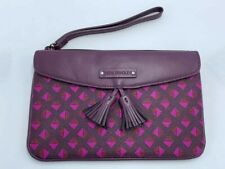 Vera Bradley Plum Studs Purple Tassel Envelope Wristlet Clutch Purse
