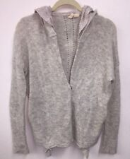 Anthropologie Anthro MOTH Jacket Topper Hood Pockets Small S Layer Look Alpaca