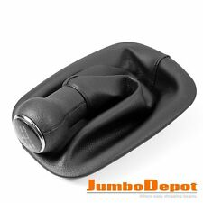 Black Leather Gear Shift Knob Boot 5 Speed Fit for VW Passat B5 B5.5 1996-2005