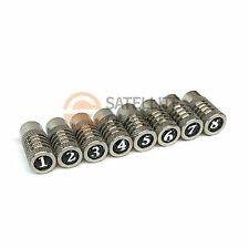 8 Replacement Coax Cable Mapper Terminator Toner Ends