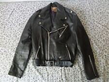 VTG Fashions By Espinoza's Leather Motorcycle Jacket Size 40 Gun Holster Pocket