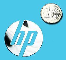 HP METALISSED CHROME EFFECT STICKER LOGO AUFKLEBER 40mm [516]