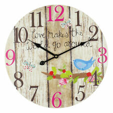 Shabby Chic Kitchen Round Wall Clocks