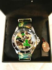 【DHL】A BATHING APE ABC NATO BELT TYPE 1 BAPEX Green Mens Watch BAPE from JAPAN