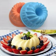 Bundt Swirl Ring Silicone Cake Bread Pastry Mold Tray Pan Bakeware Mould Decor