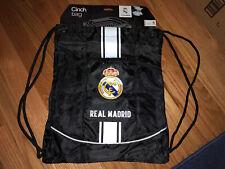 BNWT Real Madrid Cinch Bag Draw String Bag Black