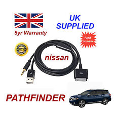 For Nissan PATHFINDER iPhone 3gs 4 4s & iPod USB & Aux Audio Cable