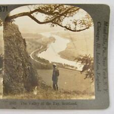 Stereoview Keystone View Company 2626 The Valley Of The Tay Scotland River (O)