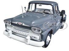 1958 CHEVROLET APACHE STEPSIDE TRUCK GRANITE GRAY 1/24 BY M2 MACHINES 40300-55A