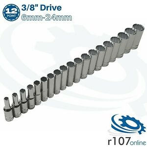 """Blue Point 3/8"""" Deep Socket Set 6mm-24mm - As sold by Snap On"""