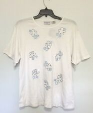 Jaclyn Smith Sport Plus Size Embroidered T-Shirt Tee Top Blouse White 2X NWT