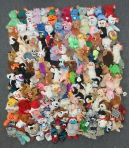~~137 TY BEANIE BABIES & OTHER PLUSH COLLECTION LOT - WHOLESALE BULK
