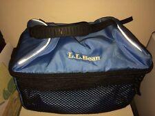 L.L. Bean Blue Nylon Insulated Flip Top Lunchbox EUC