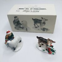 RARE Retired Vintage CHRISTMAS AT THE FARM Department Dept 56 SNOW VILLAGE (L)