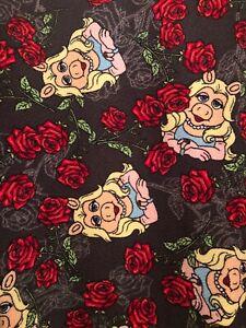 NWT LuLaRoe Disney Muppets Miss Piggy Roses Floral Flowers Cassie Skirt Sz 3XL
