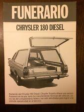 Catalogo Automóvil Funeraria Chrysler 180 Diésel