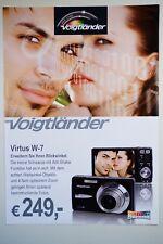 Voigtländer Virtus W-7, Prospekt, Werbeblatt 2 Seiten