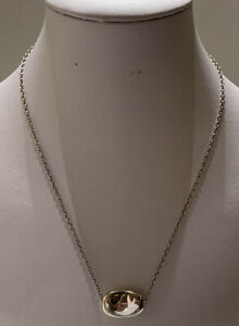 Tiffany & Co Vintage Elsa Peretti Spain Sterling Silver Large Bean Necklace