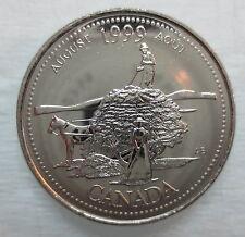 1999 CANADA 25¢ AUGUST MILLENIUM SERIES BRILLIANT UNCIRCULATED QUARTER