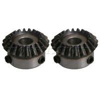 2Pcs 8mm Hole Diameter 1.25 Module 45 # Steel 20 Teeth Tapered Bevel Gear