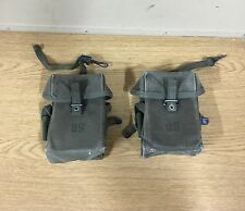 2 X GENUINE US ARMY EARLY VIETNAM M-1956 POUCHES CASES M16 30RD CANVAS VGC !!!
