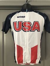 7e204da7d BIO-RACER Short Sleeve Jersey From USA National Cycling Team NEW!