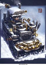 Chimera Snow Blower Chinese Steampunk Print by James Ng