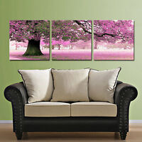 FALL//LAKE ready to hang triptych wall art print mounted MDF//Improved canvas arts
