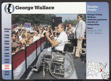GEORGE WALLACE Alabama Governor Photo GROLIER STORY OF AMERICA CARD
