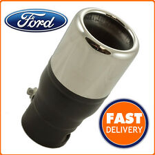 Genuine Ford KA Exhaust Tailpipe Finisher Chrome Plated Stainless Steel / Parts