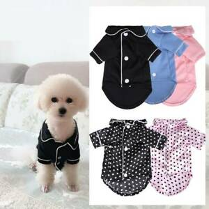 Cat Dog Pajamas Soft Cotton Small Pet Clothes Apparel Puppy Jumpsuit Costume
