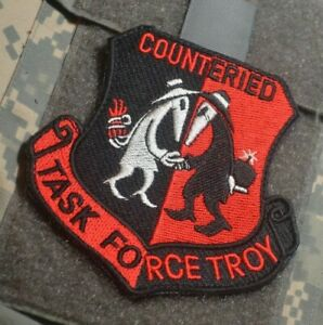 DAESH WHACKER JSOC ROUTE CLEARANCE SPECIAL OPS/OGR red vêlkrö PATCH Counter IED