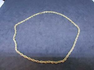 9 CARAT 375 LADIES THICK YELLOW GOLD NECKLACE CHAIN 14 grams WEIGHT 9K