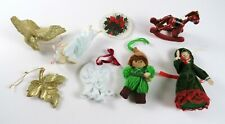 Mixed Lot of 8 Vintage Christmas Ornaments, Hallmark Norman Rockwell & More