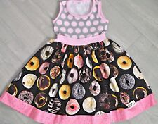 KPEA *NEW* SOLD OUT DONUT DOUGHNUT print DRESS size 10 Girls PINK MadeinAmerica