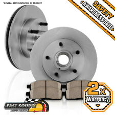Front 308mm Brake Disc Rotors and Ceramic Pads 1997 1998 1999 FORD F150 2WD RWD