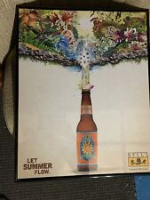 Bells Oberon Let Summer Flow Beer Wall Sign Picture In Frame 16Wx20L